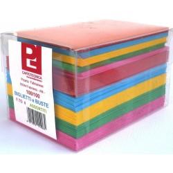 Cartoncini Colorati con Busta 100 Pezzi (14 x 9 cm)