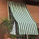 Tenda da Sole a Strisce Verdi Con Ganci 145 x 290 cm