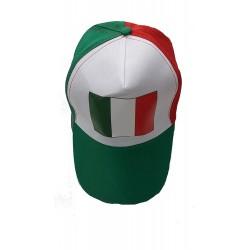 Cappello con Visiera e Bandiera Italiana