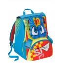 Zaino Scuola Sdoppiabile SJ - Boy - Azzurro Giallo Arancione - Flip System