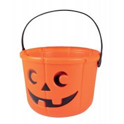 Cestino-Zucca per Halloween - 18x14 cm