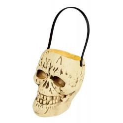 Cestino-Teschio di Halloween - 17x15 cm