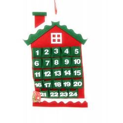 Calendario dell'Avvento Casetta in Feltro