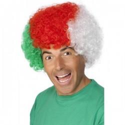 Parrucca Afro Tricolore Italia
