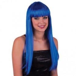 Parrucca lunga liscia Blu cobalto