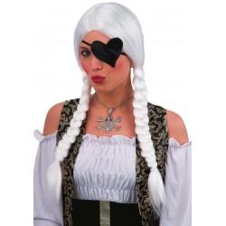 Parrucca Bianca con trecce laterali