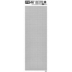 Trasferibili R41. Elettronica Circle Pads C1917, NERO. In fogli 9x25cm