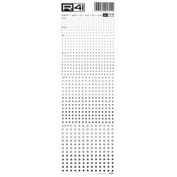 R41 - Trasferibili Grafica Balaustrino, G777, diametro 0.7, 0.8, 1, 1.5, 2, 2.5mm NERO.
