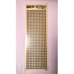 Trasferibili R41. Elettronica Circle Pads, C38, NERO.