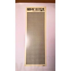 Trasferibili R41. Elettronica Circle pads C1925, NERO. In fogli 9x25cm