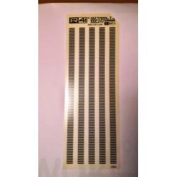 Trasferibili R41. Elettronica Connectors C947, NERO. In fogli 9x25cm