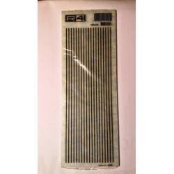 Trasferibili R41. Elettronica Lines C2006, NERO. In fogli 9x25cm