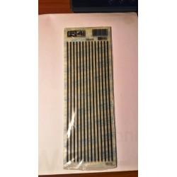 Trasferibili R41. Elettronica Lines C2010, NERO. In fogli 9x25cm