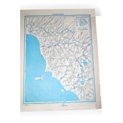 Vintage anni '70-'80 Cartine geografiche per verifiche scolastiche
