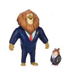 Sindaco Leodore Lionheart & Uomo D'affari Lemming - Zootropolis Disney