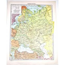 RUSSIA FISICA - POLITICA \ Carta Geografica - Studio F.M.B. Bologna 1:12.500.000