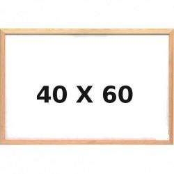 Lavagna Bianca con Cornice in Legno 40 x 60