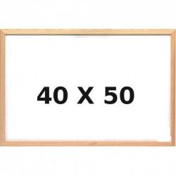 Lavagna Bianca con Cornice in Legno 40 x 50