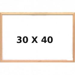 Lavagna Bianca con Cornice in Legno 30 x 40