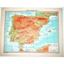 PENISOLA IBERICA FISICA - POLITICA \ Carta Geografica - Studio F.M.B. Bologna 1:4.500.000