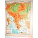 STATI BALCANICI FISICA - POLITICA \ Carta Geografica - Studio F.M.B. Bologna 1:5.000.000