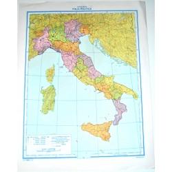 ITALIA FISICA - POLITICA \ Carta Geografica Muta- Studio F.M.B. Bologna 1: 4.200.000