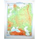 RUSSIA FISICA - POLITICA \ Carta Geografica Muta- Studio F.M.B. Bologna 1: 12.300.000