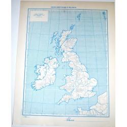 GRAN BRETAGNA FISICA - POLITICA \ Carta Geografica - Studio F.M.B. Bologna 1: 4.500.000