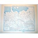 EUROPA CENTRALE FISICA - POLITICA \ Carta Geografica - Studio F.M.B. Bologna 1: 4.500.000