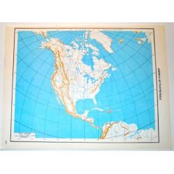 AMERCA DEL NORD E DEL SUD FISICA - POLITICA \ Carta Geografica - Carta Muta per test scolastici 1: 45.000.000