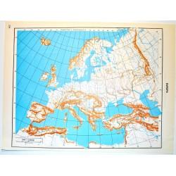 Europa E Italia Del Sud Politica Carta Geografica Carta Muta