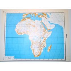 ASIA E AFRICA - POLITICA \ Carta Geografica - Carta Muta per test scolastici 1: 45.000.000