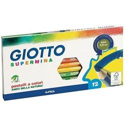 Pastelli Supermina Giotto, 3.8 mm, Confezione da 12