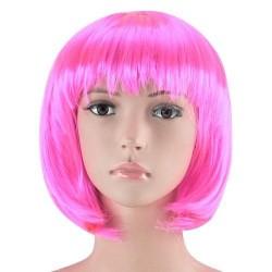 Parrucca Caschetto con frangia Rosa Pastello