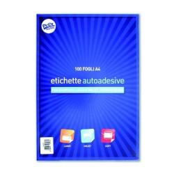 Fogli Adesivi Formato A4 - 100 Fogli senza margine